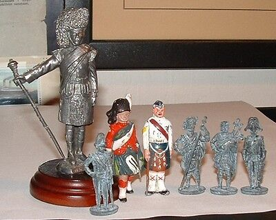 Scottish Toy Soldiers Blackwatch Drum Major Scotsguard Piper Navy 7x 1930-