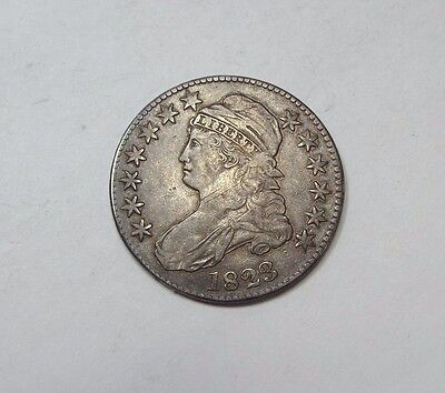 BARGAIN 1823 Capped Bust/Lettered Edge Half Dollar  VERY FINE Silver 50c