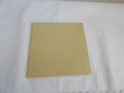 vintage H&R Johnson CERAMIC Glazed HARVEST GOLD WALL TILES NOS 1970's England