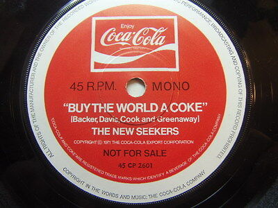 "New Seekers – Buy The World a Coke 1971 Promo 7"" Coca Cola CP 2601"