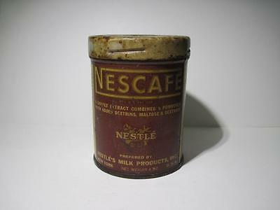 Vintage Nescafe Coffee Extract Tin Can-Bright Colors 4oz