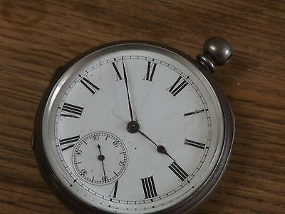 Good Antique Solid Silver  Gents  Pocket Watch