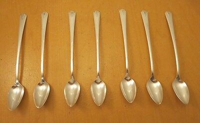 """Community Plate, 7- Iced Tea Spoons, """"Deauville"""" c: 1929"""