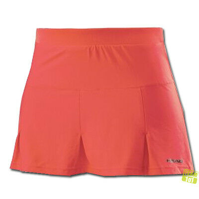 Head Bambini Ragazza Gonna da tennis con Pantaloni interni Club G corta corallo