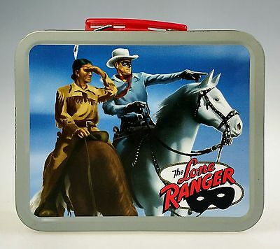 Lone Ranger Cheerios Cereal Tin Metal Lunch Box Miniature Reproduction Tonto