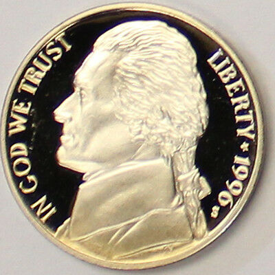 1996 S Jefferson Nickel Gem Deep Cameo Proof Coin