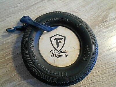 "Vintage Firestone Tire ""The Mark of Quality"" -- Display For Rear View Mirror ??"