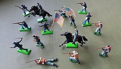 Britains American Civil War union plastic toy soldiers x15