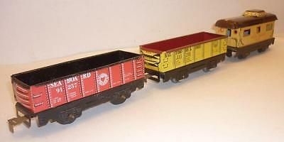 3 x MARX 0 gauge ALL METAL FREIGHT CARS - B&O SAL UP,                          m