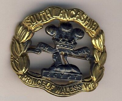 South Lancashire Prince of Wales Vols Officers Cap Badge Sweetheart Broach WW2