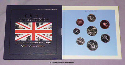 1995 ROYAL MINT BRILLIANT UNC SET OF COINS - 50th Anniversary WWII £2 Coin
