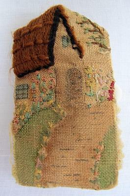 Vintage 1920's Hand Embroidered Fabric Sewing Needle Book Case - County Cottage