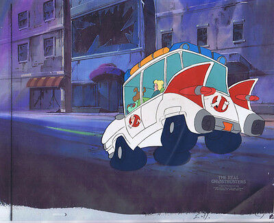 The Real Ghostbusters Original Production Animation Cel & Copy Bkgd #A21836