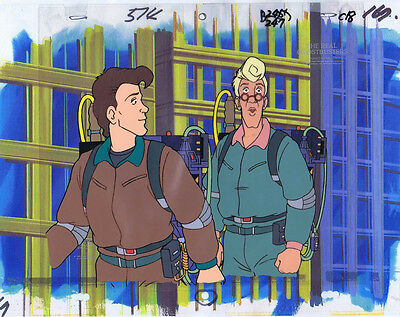 The Real Ghostbusters Original Production Animation Cel & Copy Bkgd #A21841