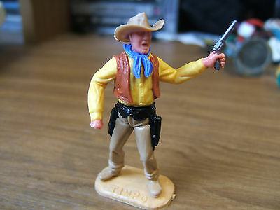 Britains Timpo Swoppet Toy Cowboy with six shooter pistol, broken  right hand