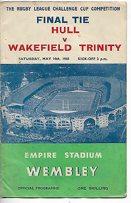 Rugby League Challenge Cup Final Programme Hull v Wakefield Trinity May 1960