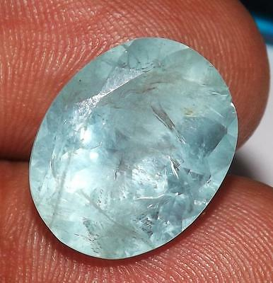 12.80 cts 100% Natural Untreated Aquamarine Gemstone  #baqf09