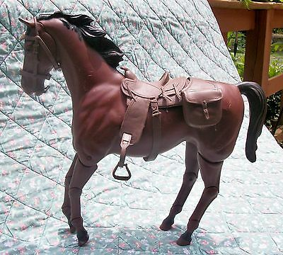 "1967 Johnny  West Thunderbolt Brown Horse 13.25"" Articulated"