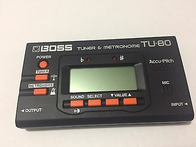 Boss TU-80 Guitar Tuner and Metronome w/ Accu-Pitch TESTED - Works Great!