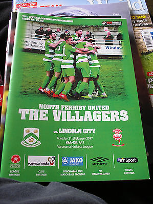 North Ferriby V Lincoln City 2016/17 League