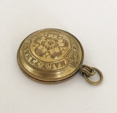 WW1 Military Fusiliers Regiment Button - Sweetheart Photo Locket Pendant  GAUNT