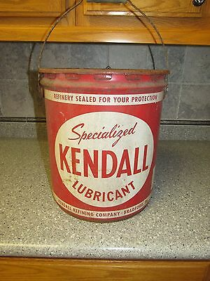 Kendall Specialized Lubricant 5 gallon Oil Can VINTAGE OIL GAS ADVERTISING CAN
