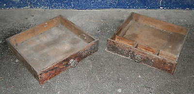 ~Antique ~Vintage ~Solid Pine~ Drawers with Glass Handle ~Ideal Display Box ~