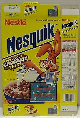 UK Nesquik Cereal Box with Disney's Pocahontas Stickers Offer, 1996