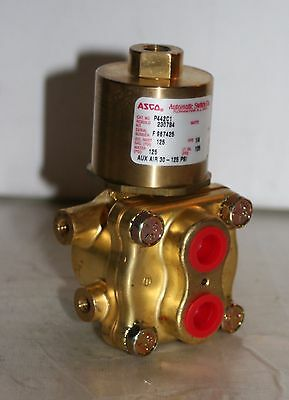 "1/4""  Brass Air-Operated Valve Asco Red-Hat P442C1"