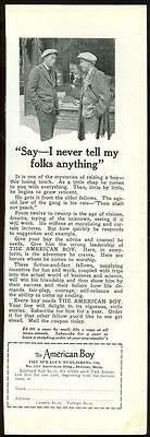 1925 National Geographic American Boy Magazine Advertisement