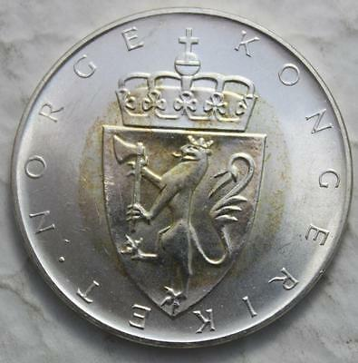 Norway 1964 Silver 10 Kroner, High Grade Mint State & Lustrous