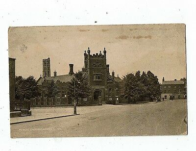 Post Card Early Printed Public Libaray King`s Lynn