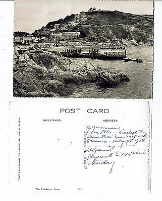 Cornish Post Card Real Photo The Harbour Looe