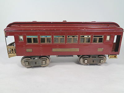 Lionel 322 Observation Car Maroon #x2843
