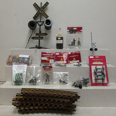 Assorted G Scale Track, Figures and Other Accessories