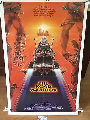 THE ROAD WARRIOR *1982 ORIGINAL MOVIE POSTER - Mel Gibson as Mad Max Rockatansky