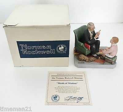 NORMAN ROCKWELL Words of Wisdom Figurine In Original Box MINT 03826