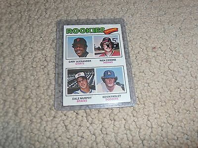 2016 Dale Murphy ROOKIE CARD Braves 1977 TOPPS 65TH ANNIVERSARY BLACK BUYBACK