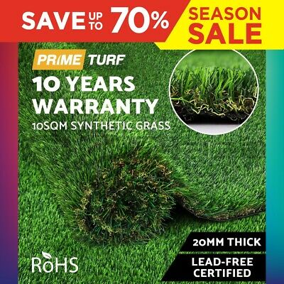 10SQM Synthetic Turf Artificial Grass Plant Fake Lawn Flooring 20mm