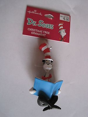 Cat in the Hat Reading Book Ornament Hallmark New