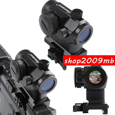 Quick Release Red/Green Dot Sight Fit 20mm Rails For Hunting Airsoft Rifle Scope