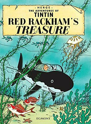 Red Rackham's Treasure (Adventures of Tintin) by Egmont Paperback Book The Cheap