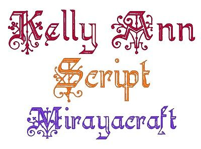 FONT: KELLY ANN SCRIPT for MACHINE EMBROIDERY DESIGN, FAST & FREE VIA EMAIL