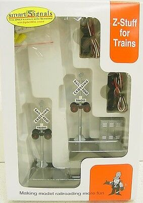 Z-Stuff DZ-1020 O Scale Crossing Signal& Detector Set with Sound