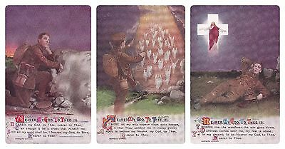 No 607 - Set Of 3 Bamforth Ww1 Song Card # 4967 -'nearer My God To Thee' Unused