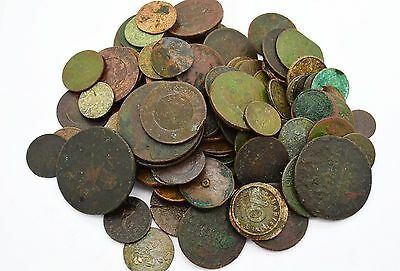 Mixed lot of copper coins. 18-20 Century