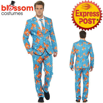 CA304 Goldfish Mens Stand Out Suit Stag Do Party Funny Fancy Fish Formal Costume
