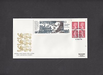 1995 £1 R.J.Mitchell booklet Royal Mail FDC Windsor Philatelic Counter handstamp