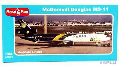 MicroMir 1:144 144-017 McDonnell Douglas MD-11 The airlines of America - NEU!