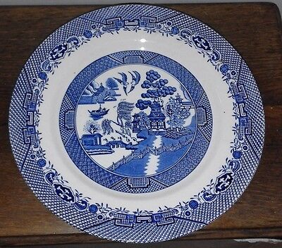 "5 x vintage Barratts of Staffordshire Willow plates  10"" diameter"